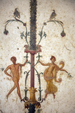 Italy, Naples, Naples Museum, from the Villa of Arianna in Stabiae, Naked Flying Figures Photographic Print by Samuel Magal