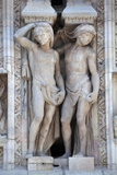 Italy, Milan, Milan Cathedral, Statues and Reliefs. Telamones Photographic Print by Samuel Magal
