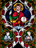 France, Alsace, Strasbourg, Strasbourg Cathedral, Stained Glass Window, Jesus Photographic Print by Samuel Magal