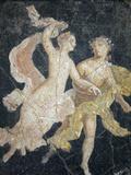 Italy, Naples, Naples Museum, Stabiae, Villa of Arianna, Atrium, Couple in Flight Photographic Print by Samuel Magal