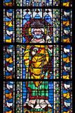 France, Alsace, Strasbourg, Strasbourg Cathedral, Stained Glass Window, Saint Juste Photographic Print by Samuel Magal
