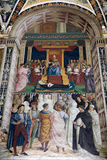 Italy, Siena, Siena Cathedral, Pius II canonizes Saint Catherine of Siena Photographic Print by Samuel Magal