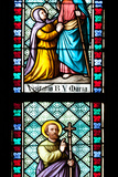Prague, St. Vitus Cathedral, Stained Glass Window, Visitation of Virgin Mary, St Philip the Apostle Photographic Print by Samuel Magal