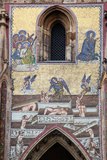 Prague, St. Vitus Cathedral, Southern Entrance, Golden Gate, The Last Judgment Mosaic, Left Panel Photographic Print by Samuel Magal
