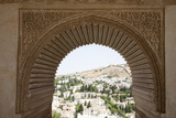 Spain, Andalusia, Granada, Alhambra Palace, Lancet Window and Wall Relief Photographic Print by Samuel Magal