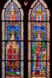 France, Alsace, Strasbourg, Strasbourg Cathedral, Stained Glass Window, Otto III and Conrad II Photographic Print by Samuel Magal