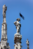 Italy, Milan, Milan Cathedral, Spires, Pinnacles and Statues on Spires Photographic Print by Samuel Magal