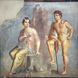 Italy, Naples, Naples Museum, from Pompeii, House of Meleager (VI 9), Io and Argo Photographic Print by Samuel Magal