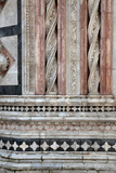 Italy, Siena, Siena Cathedral,  Baptistery Facade, Marble Decorations Photographic Print by Samuel Magal