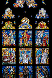 Prague, St. Vitus Cathedral, Southwestern Entrance Hall, Stained Glass Window Photographic Print by Samuel Magal