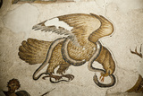 Turkey, Istanbul, Great Palace Mosaic Museum, Roman Mosaic, Daily Life, Eagle and Snake Photographic Print by Samuel Magal