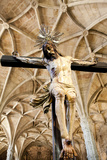 Portugal, Lisbon, Santa Maria de Belem, Hieronymite Monastery, Jesus On the Cross Photographic Print by Samuel Magal