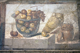 Italy, Naples Museum, from Pompeii, Praedia of Julia Felix (II, 4, 3), Still Life, Fruit in a Bowl Photographic Print by Samuel Magal