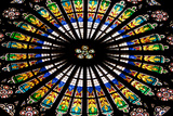 France, Alsace, Strasbourg, Strasbourg Cathedral, Stained Glass Window, Rose Window Impressão fotográfica por Samuel Magal