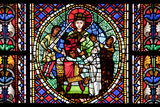 France, Alsace, Strasbourg, Strasbourg Cathedral, Stained Glass Window, Solomon Judgment Photographic Print by Samuel Magal