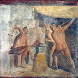 Italy, Naples, Naples Museum, from Pompeii, House of Quadrighe (VII 2, 25), The workshop of Efesto Photographic Print by Samuel Magal