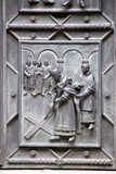 Prague, St. Vitus Cathedral, Central Portal, Western Facade, Bronze Door, Lower Left Panel Photographic Print by Samuel Magal