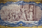 Portugal, Lisbon, Belem, Hieronymite Monastery, Refectory, Ceramic Tiles (Azulejo), Detail Photographic Print by Samuel Magal