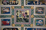 Italy, Siena, Siena Cathedral, The Piccolomini Library, Fresco Ceiling Photographic Print by Samuel Magal