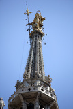 Italy, Milan, Milan Cathedral, Spires, Pinnacles and Statues on Spires, The Madonnina Photographic Print by Samuel Magal