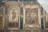 Italy, Naples, Naples Museum, from Pompeii, House of Meleager (VI 9), Stucco Policromo (Polychrome) Photographic Print by Samuel Magal