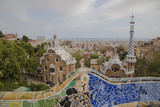 Spain, Barcelona, Park Guell by Antonio Gaudi Photographic Print