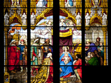 Germany, Cologne, Cologne Cathedral, Stained Glass Window, The South Aisle, The Adoration Window Photographic Print by Samuel Magal