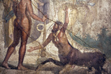 Italy, Naples, Naples Museum, from Pompeii, House of the Centaur, Hercules Slaying Nessus Photographic Print by Samuel Magal