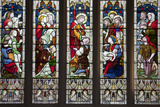 England, Somerset, Bath, Bath Abbey, Stained Glass Window, The Cripples' Window Photographic Print by Samuel Magal