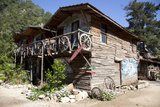 Turkey, Olympus, Wooden Houses Photographic Print by Samuel Magal