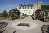 France, Loire Valley, Villandry Castle, Fountain Photographic Print by Samuel Magal