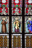 Prague, St. Vitus Cathedral, Stained Glass Window, St. Francis, St. Peter, Saint Elisabeth Photographic Print by Samuel Magal