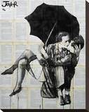 Vintage Kiss Stretched Canvas Print by Loui Jover