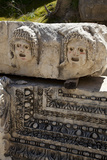 Turkey, Myra, Theater, Relief, Greek Masks Photographic Print by Samuel Magal