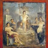 Italy, Naples, Naples Museum, from Pompeii, Gavius Rufus House (VII 2, 16-17), Dionysus Stibadium Photographic Print by Samuel Magal
