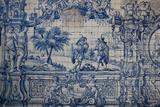 Portugal, Porto, The Church of Saint IIdefonso, Ceramic Tiles (Azulejo) Photographic Print by Samuel Magal