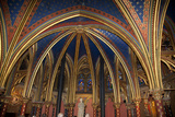 France, Paris, Notre Dame Cathedral, Lower Church, Apse, Ribbed Vaulted Ceiling Photographic Print by Samuel Magal