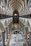 England, Salisbury, Salisbury Cathedral, Nave, View from the Gallery to The East Photographic Print by Samuel Magal