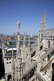 Italy, Milan, Milan Cathedral, Northeastern Roof Top, Spires, Flying Buttresses Photographic Print by Samuel Magal