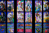 Prague, St. Vitus Cathedral, Thunov Chapel, Stained Glass Window, Psalm 126:5, Lower Tiers Photographic Print by Samuel Magal