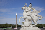 France, Paris, Tuileries Garden, Statue of Hermes (Mercury) with Pegasus Photographic Print by Samuel Magal