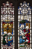 England, Somerset, Bath, Bath Abbey, West Side, Stained Glass Window, Pentateuch Window Photographic Print by Samuel Magal