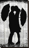 Umbrellas and Love Stretched Canvas Print by Loui Jover