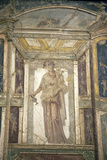 Italy, Naples, Naples Museum, from Pompeii, House of Meleager, Stucco Policromo (Polychrome) Photographic Print by Samuel Magal