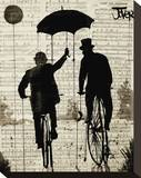 The Umbrella Stretched Canvas Print by Loui Jover