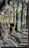 Walking in Montmartre Reproduction transférée sur toile par Loui Jover