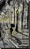 Walking in Montmartre Stretched Canvas Print by Loui Jover
