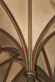England, Salisbury, Salisbury Cathedral, Vaulted Ceiling and Pilasters Photographic Print by Samuel Magal