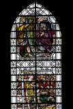 England, Salisbury, Salisbury Cathedral, Stained Glass Window, King David Photographic Print by Samuel Magal