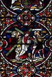 England, Salisbury, Salisbury Cathedral, Stained Glass Window, Jesus Carrying his Own Cross Photographic Print by Samuel Magal